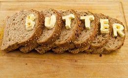 措辞的面包黄油 免版税库存图片