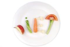 词饮食由菜做成 库存照片