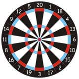 掷镖的圆靶箭使用 免版税库存图片