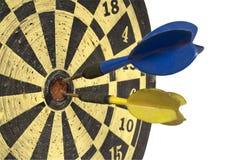 掷镖的圆靶路径侧视图w 免版税库存图片