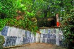 掸人寺庙wudang 免版税库存图片
