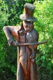 描述一只蟋蟀的纪念碑在什切布热申,波兰 免版税库存照片