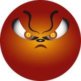 描述愤怒的面带笑容 库存照片