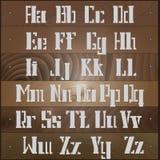 描述拉丁字母的传染媒介例证 免版税图库摄影