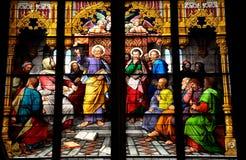 圣皮特彩色玻璃艺术品 库存照片