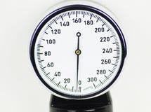 描述血压控制的血压计高分辨率图象 库存图片