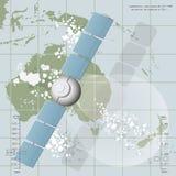 描述通讯卫星的传染媒介例证 免版税库存图片