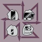 描述防御技术的传染媒介例证 图库摄影