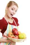 提供健康果子的主妇或卖主 库存图片