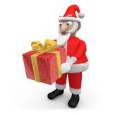提供圣诞老人的礼品 向量例证