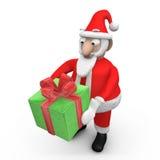 提供圣诞老人的礼品 皇族释放例证