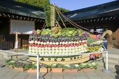 提供在Sensoji佛教寺庙的菜在浅草,东京 库存照片