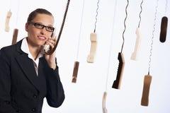 提供服务的呼叫中心客户 免版税库存照片
