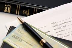 提供的什一税 免版税图库摄影
