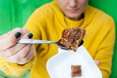 提供的甜点 免版税库存照片