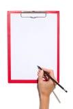 提供签字 免版税库存图片