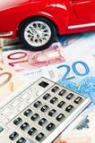 提供经费给的车的概念 免版税库存照片
