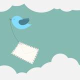 提供邮件的鸟 免版税库存照片