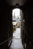 提倡者在爱丁堡,苏格兰关闭 免版税库存照片