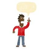 提出与讲话泡影的动画片恼怒的人观点 免版税库存照片