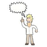 提出与讲话泡影的动画片恼怒的人观点 库存图片