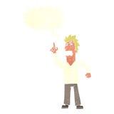 提出与讲话泡影的动画片恼怒的人观点 图库摄影
