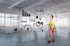 提出她的企业成功计划 图库摄影