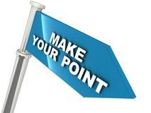 提出您的观点 免版税库存照片