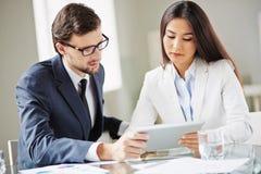 提出数据对CEO 免版税图库摄影