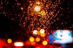 提取与回合行,光芒四射的多彩多姿的光的被弄脏的背景 免版税库存照片