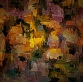 提取与模糊的混乱油漆冲程的色的葡萄酒难看的东西背景在织地不很细de的帆布计算机生成的图表 库存例证