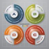 提取与自由空间的4步模板您的样品text&data的 库存图片