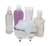 提取乳脂化妆水洗气器木盆 免版税图库摄影