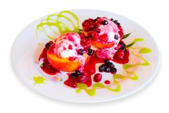 提取乳脂水果的冰 库存照片