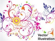 提取五颜六色的花卉彩虹 库存图片