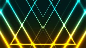 提取发光的霓虹五颜六色的三角录影动画 皇族释放例证