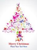 提取圣诞节colorul花卉结构树 库存图片