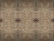 提取太阳照亮的精妙的石工砖无缝的地毯并且对称地一起铸造了 免版税库存图片