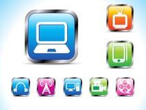 提取按钮图标技术 免版税库存照片