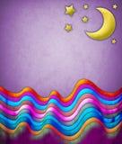 提取月亮场面星形 免版税库存图片