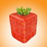 提取果子方形草莓 图库摄影