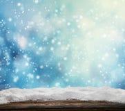 提取背景多雪的冬天 免版税库存图片