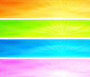 提取背景横幅五颜六色的日出 免版税图库摄影