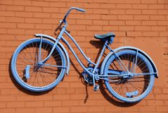 提取自行车蓝色 库存照片