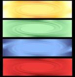 提取色的横幅 库存图片