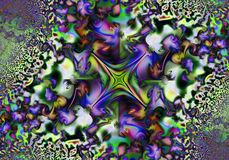 提取花卉模式 运动幻觉 库存图片