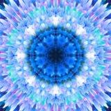 提取花卉背景 幻想雪花样式 美好的万花筒纹理 在蓝色口气的装饰坛场装饰品 皇族释放例证