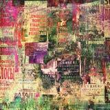 提取被撕毁的背景老海报 库存图片
