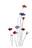 提取被绘的背景花卉 免版税库存照片