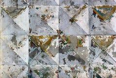提取被风化的纹理被弄脏的老剥落的灰泥和油漆 免版税图库摄影